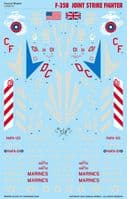 Caracal Decals 1/48 Lockheed-Martin F-35B Joint Strike Fighter # 48141